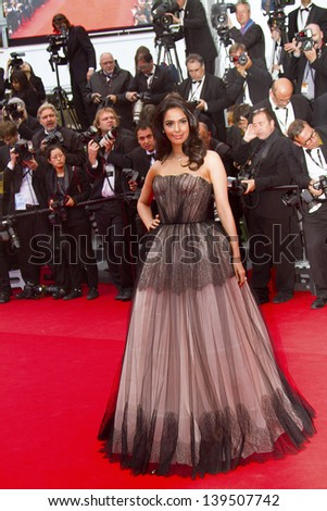 CANNES, FRANCE - MAY 19: Sonam Kapoor attends 'Inside Llewyn Davis' Premiere during the 66th Cannes Film Festival at Palais des Festivals on May 19, 2013 in Cannes, France. - stock photo