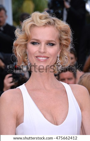 "CANNES, FRANCE - MAY 18, 2016: Supermodel Eva Herzigova at the gala premiere of ""The Unknown Girl"" (""La Fille Inconnue"") at the 69th Festival de Cannes."