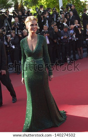 CANNES, FRANCE - MAY 26: Sylvie Tellier attends the Premiere of 'Zulu' and the Closing Ceremony of The 66th  Cannes Film Festival at Palais on May 26, 2013 in Cannes, France. - stock photo
