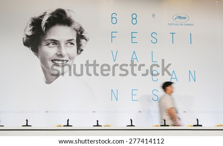 CANNES, FRANCE - MAY 12:  68th Annual Cannes Film Festival on May 12, 2015 in Cannes, France - stock photo