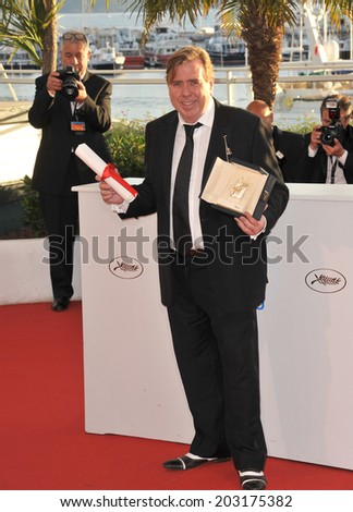 CANNES, FRANCE - MAY 24, 2014: Timothy Spall, winner of Best Actor Award for Mr. Turner, at the awards photocall at the 67th Festival de Cannes.  - stock photo