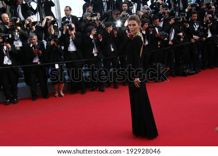 CANNES, FRANCE - MAY 15: Victoria Bonia attends the 'Mr.Turner' Premiere at the 67th Annual Cannes Film Festival on May 15, 2014 in Cannes, France.  - stock photo