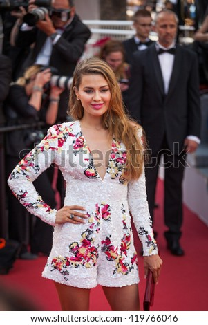 Cannes, France - 11 MAY 2016 - Victoria Bonya attends the screening of 'Cafe Society' at the opening gala of the annual 69th Cannes Film Festival at Palais des Festivals - stock photo