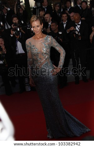 CANNES, FRANCE - MAY 23: Victoria Hervey attends the 'On The Road' Premiere during the 65th Annual Cannes Film Festival at Palais des Festivals on May 23, 2012 in Cannes, France. - stock photo