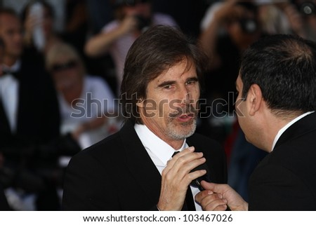 CANNES, FRANCE - MAY 23: Walter Salles attends the 'On The Road' Premiere during the 65th Cannes Film Festival at Palais des Festivals on May 23, 2012 in Cannes, France. - stock photo