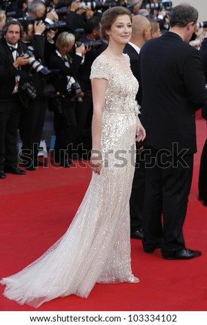 CANNES - MAY 23: Alexandra Maria Lara at the premiere screening of 'On the Road' presented in competition at the 65th Cannes film festival on May 23, 2012 in Cannes - stock photo