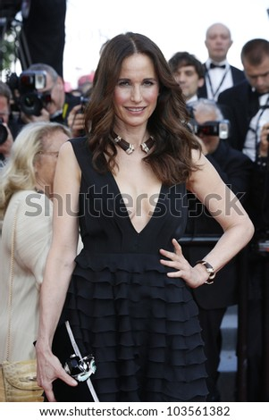 CANNES  - MAY 26: Andie Macdowell at the premiere of 'Mud' during the 65th Cannes Film Festival on May 26, 2012 in Cannes, France - stock photo