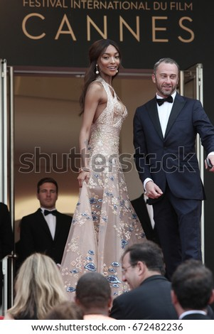 CANNES - MAY 22, 2017: Jourdan Dunn attends The Killing Of A Sacred Deer screening during the 70th annual Cannes Film Festival at Palais des Festivals in Cannes