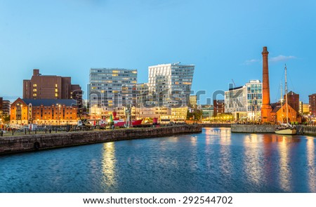 Canning Dock, the Port of Liverpool - England - stock photo