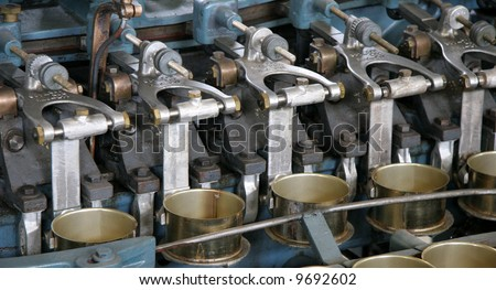 Canning factory - stock photo