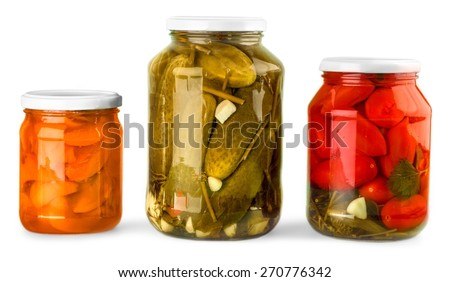 Canning, Jar, Food. - stock photo