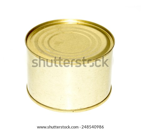 canning tin can on a white background - stock photo