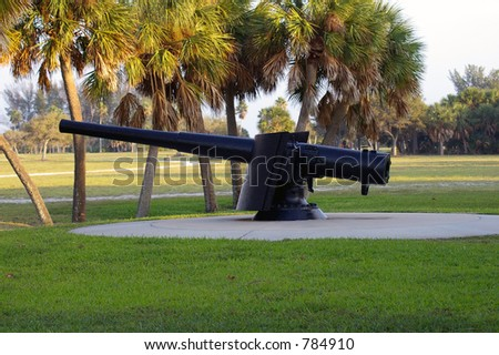 Cannon at Fort De Soto, FL - stock photo