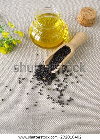 Canola oil and rapeseed - stock photo