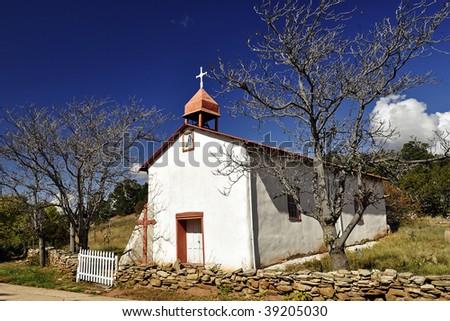 Canoncito Church - stock photo