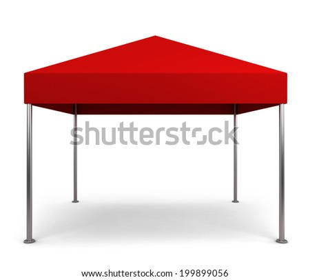 Canopy tent. 3d illustration isolated on white background  - stock photo