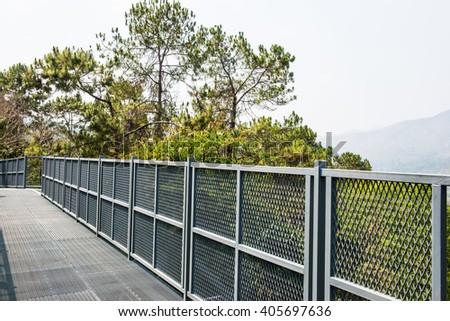 Canopy Walkway of Queen Sirikit Botanic Garden, Thailand - stock photo