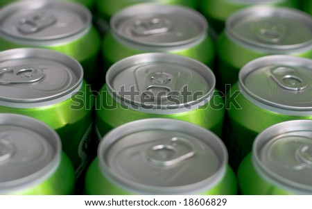 Cans in fridge