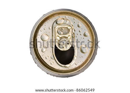 Cans on a white background. - stock photo