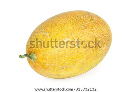 Cantaloupe isolated on white background - stock photo