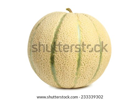 Cantaloupe melon on white background - stock photo