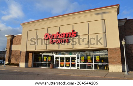 CANTON, MI - DECEMBER 30: Dunham's, whose Canton store is shown on December 30, 2014, has over 200 stores in 19 states - stock photo
