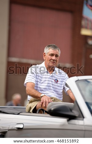 Canton, OH - 6 August 2016:  NFL Hall of Fame player Chris Hanburger  in a parade.