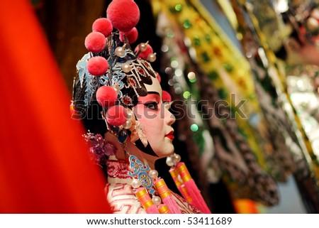 cantonese opera dummy - stock photo