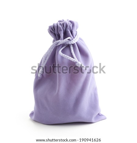 Canvas bag,isolated on white.