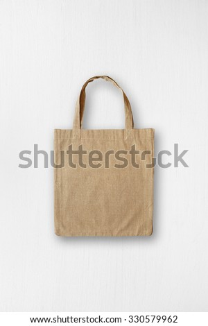Canvas bag mock-up - stock photo