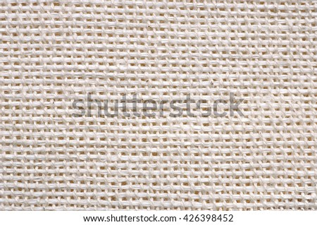 Canvas linden fabric texture background - stock photo