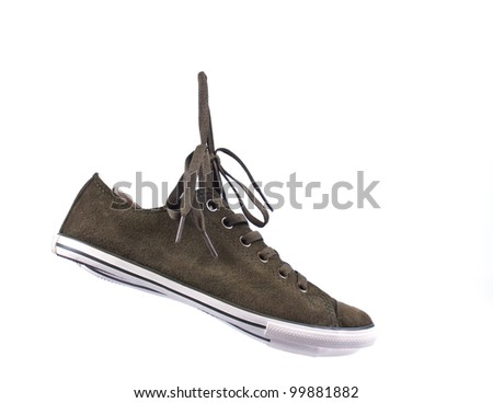 canvas shoes isolated on white background