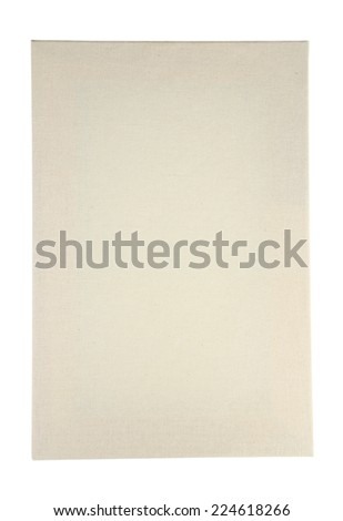 Canvas stretched on wooden frame, isolated on white - stock photo