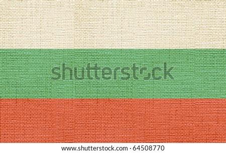 canvas styled flag of bulgaria - stock photo