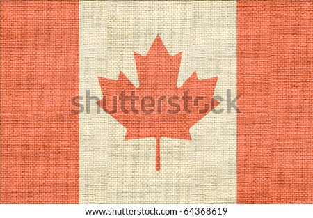 canvas styled flag of canada - stock photo
