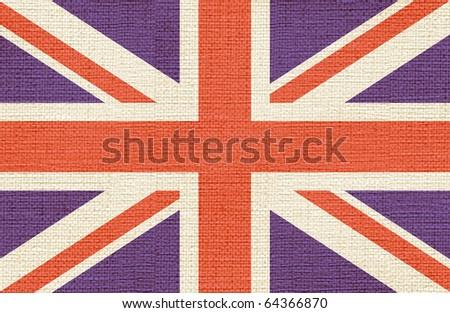 canvas styled flag of uk - stock photo
