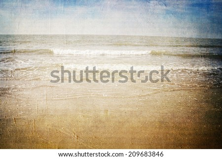 canvas texture background seashore in the north sea  - stock photo