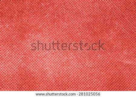 Canvas textured red background. - stock photo