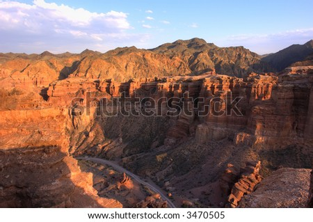 canyon - stock photo