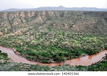 Canyon at Awash National Park (Ethiopia) - stock photo