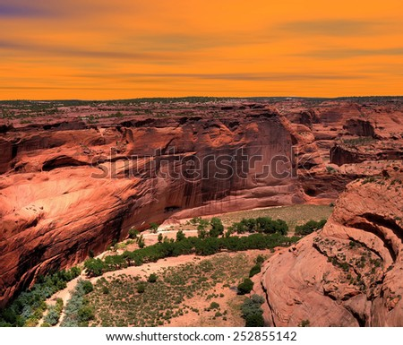 Canyon de Chelly Navajo indian reservation northern Arizona - stock photo