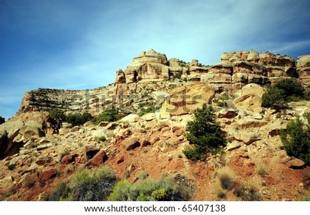 Canyon Lands National Park Utah - stock photo