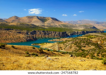 Canyon of Euphrates River. Turkey - stock photo