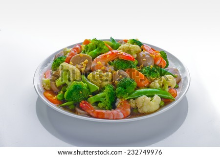 Cap-Cay, chinese Indonesian stir fry vegetables