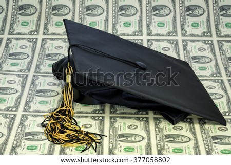 Cap for graduating on a sheet of money