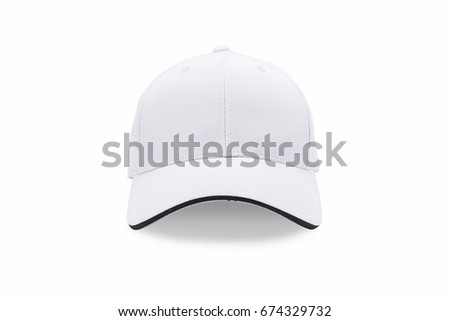 Cap isolated on white background. Baseball cap