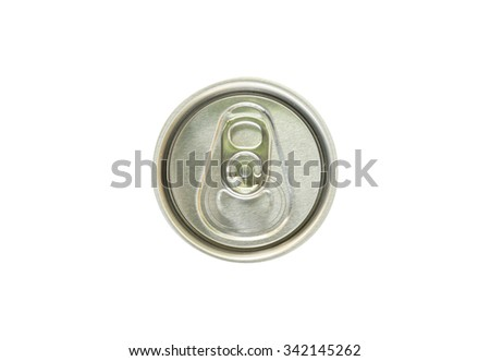 Cap of can isolated on white background. This has clipping path - stock photo