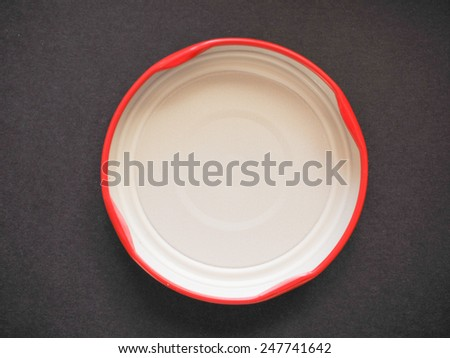 Cap of glass jar for food - stock photo