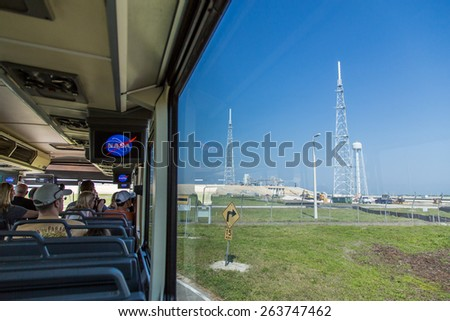 Cape Canaveral, Florida, USA - MARCH 20, 2015: NASA Kennedy Space Center Museum, a quick walk around