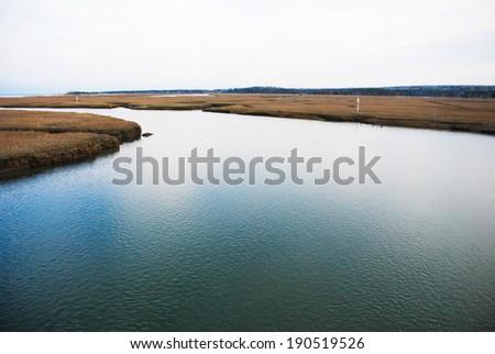 Cape Cod Waterway - stock photo